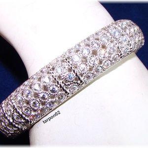 Judith Ripka 118-Facet Diamonique Silver Bracelet